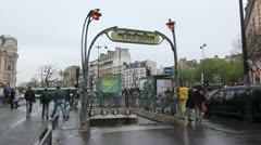 Paris Metro station. Stock Footage