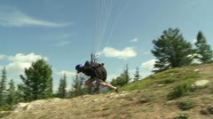 Paraglider launching 05 Stock Footage