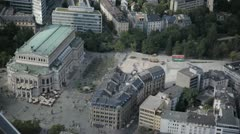 "The ""alte Oper"" old opera of Frankfurt view of the Maintower Stock Footage"
