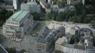 "Stock Video Footage of The ""alte Oper"" old opera of Frankfurt view of the Maintower"