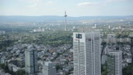 Skyscrapers of Frankfurt and a TV Tower in the Background Stock Footage
