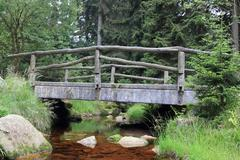 bridge near torfhaus - stock photo