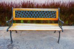 vintage bench - stock photo