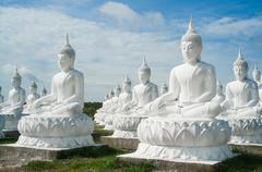 lot of buddha statue - stock photo