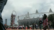 Stock Video Footage of LONDON Olympic Park 02