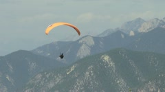 Paraglider with windsock - stock footage