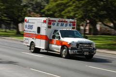 Stock Photo of Speeding Ambulance