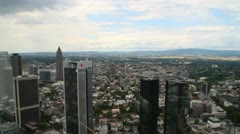 Frankfurt Skyline panning shot Stock Footage
