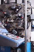 Control panel of typography machine Stock Photos