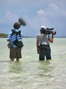 Stock Photo of Camera Crew on Location
