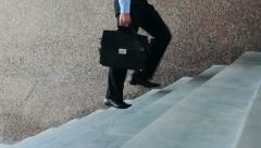 Businessman walking Stock Footage