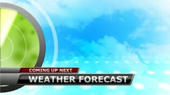 Stock Video Footage of Weather Forecast Promo Animation for broadcast meteorology report