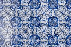 portuguese glazed tiles 144 - stock photo