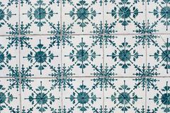 portuguese glazed tiles 170 - stock photo