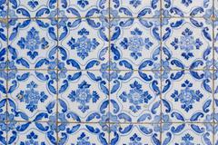portuguese glazed tiles 167 - stock photo