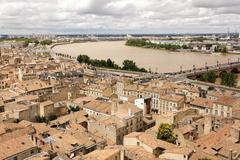 Bordeaux and garonne river Stock Photos