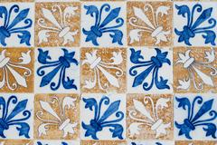 portuguese glazed tiles 156 - stock photo