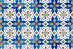 portuguese glazed tiles 153 - stock photo