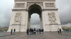 Arc de Triomphe. Stock Footage