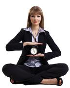 Yoga in business - easy time management isolated Stock Photos