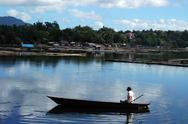 Lake boatman Stock Photos