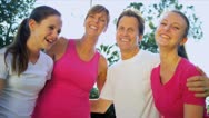 Healthy Young Family Outdoors Together  Stock Footage