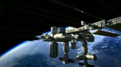 ISS SpacestationTilt Stock Footage