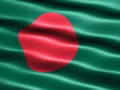 Flag of Bangladesh Stock Illustration