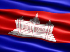 Stock Illustration of Flag of Cambodia