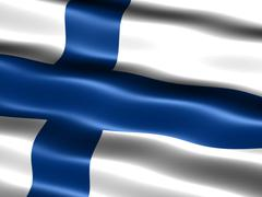 flag of finland - stock illustration