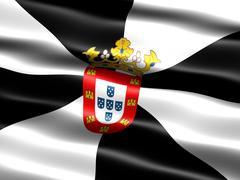 Flag of ceuta Stock Illustration