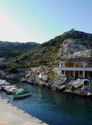 seaside fishing village, callelonque, calanques, france - stock photo