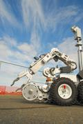 tactical bomb squad robot - stock photo