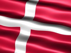 flag of denmark - stock illustration