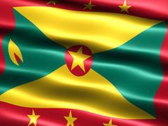 Stock Illustration of flag of grenada