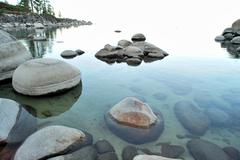 crystal clear lake - stock photo
