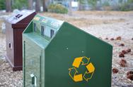 Bear proof recycle container Stock Photos