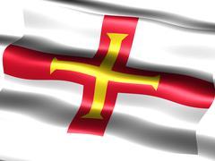 Stock Illustration of flag of guernsey