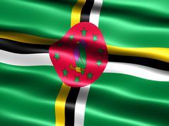 flag of dominica - stock illustration