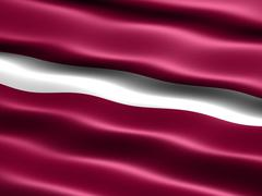 Flag of latvia Stock Illustration