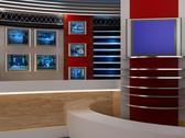 3d studio tv virtual set Stock Illustration