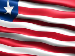 flag of liberia - stock illustration