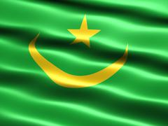 Stock Illustration of flag of mauritania