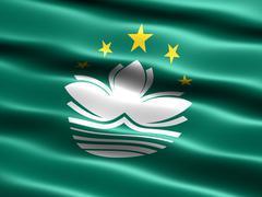 Flag of macau Stock Illustration