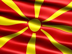 Stock Illustration of flag of the republic of macedonia