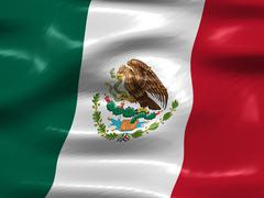 Stock Illustration of flag of mexico
