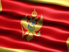 Stock Illustration of flag of montenegro