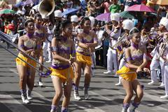 majorettes in action - stock photo