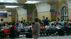 The waiting hall of train station,chinese of China. - stock footage