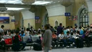 The waiting hall of train station,chinese of China. Stock Footage
